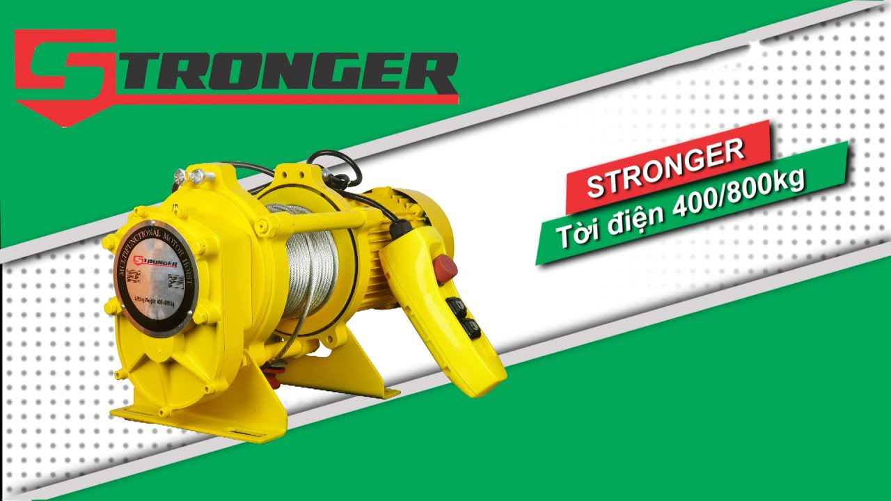 Tời nhanh strongger 400/800kg kcd800